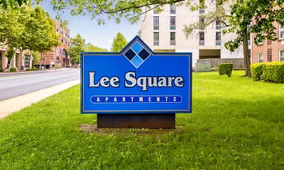 Community Signage, Lee Square Apartments, 2