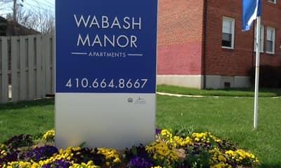 Community Signage, Sequoia and Wabash Manor, 0