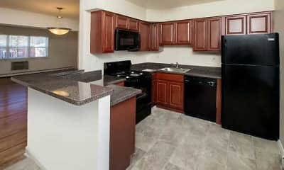 Kitchen, Royal Gardens Apartments, 2