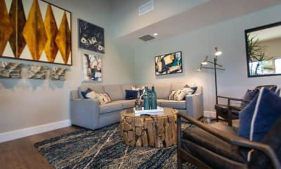 Living Room, Foothill Ridge Apartments, 1