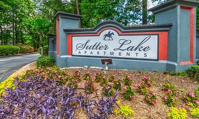 Community Signage, Sutter Lake, 2