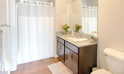 Bathroom, Pinebrooke Apartments, 2