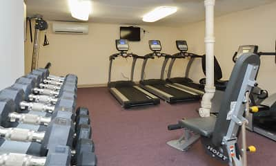 Fitness Weight Room, Gayley Park Apartments, 2