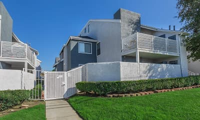 view of side of home featuring a lawn, Madison Park Apartments, 1