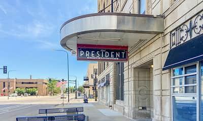 Community Signage, Hotel President Senior Apartments, 0