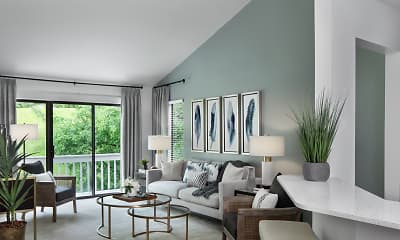 Living Room, River Oaks Apartments Of Rochester Hills, 0
