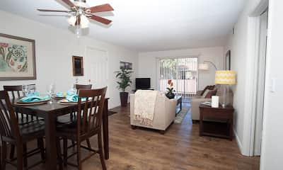 Dining Room, Courtyard Apartments at Cordova, 1