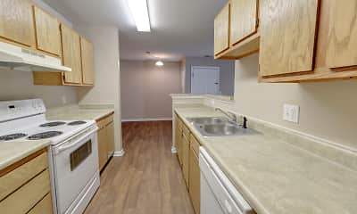 Kitchen, Deer Chase Apartments, 1