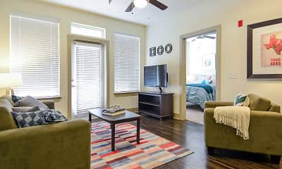 Living Room, The Domain At Waco Student Apartments, 1