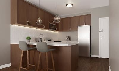 Kitchen, 965 Flats, 1