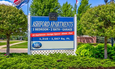 Community Signage, Ashford Apartments w/ Garages, 2