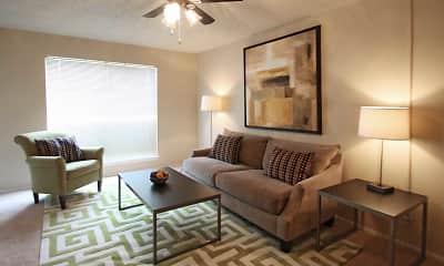 Living Room, Woodchase Apartments, 1