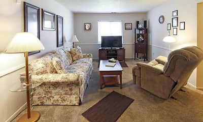 Living Room, Mount Vernon Apartments, 1