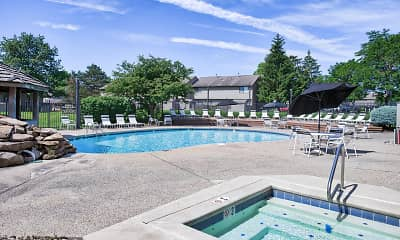 Pool, Woodbridge Apartments of Fort Wayne, 1