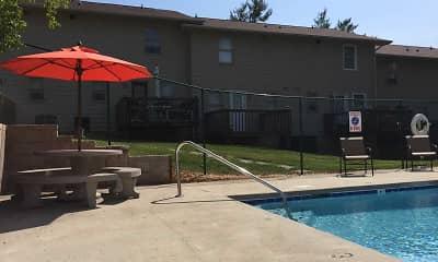 Pool, Carlton Square Apartments, 1