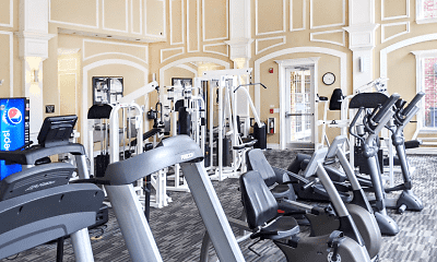 Fitness Weight Room, Turtlecreek Apartments, 2