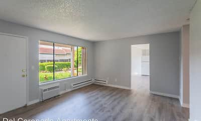 Living Room, Del Coronado Apartments, 1