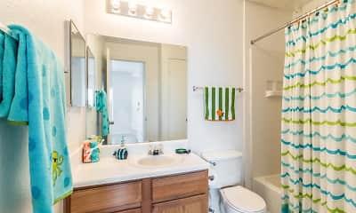 Bathroom, Circle S Apartments, 2