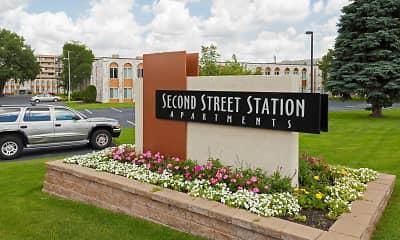 Community Signage, Second Street Station, 2