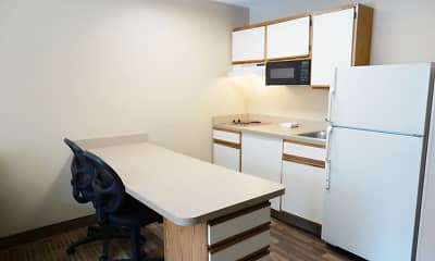 Kitchen, Furnished Studio - Providence - Airport, 1