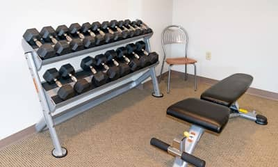 Fitness Weight Room, City View Apartments, 2