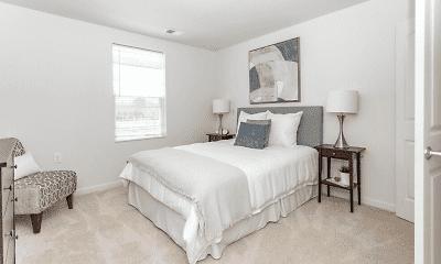 Bedroom, Sheldon Square Senior Apartments, 1