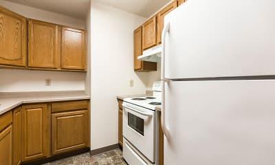 Kitchen, Riverpark Apartments, 1