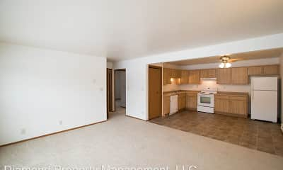 Living Room, Woodfield Circle Apartments, 1