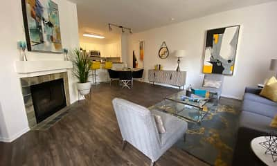 Living Room, CentrePointe Apartments, 1