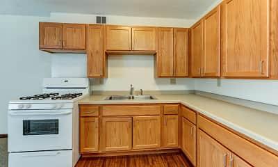 Kitchen, Hopkins Village Senior Apartments, 0