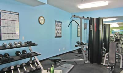 Fitness Weight Room, Promenade Oaks, 2