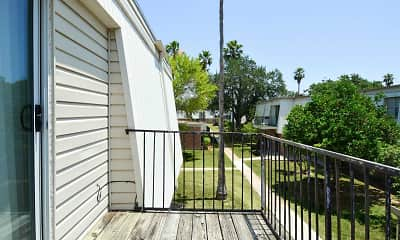 Patio / Deck, Jackson Square Apartments, 2