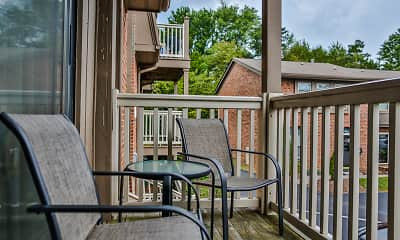 Patio / Deck, Cedar Point Apartments, 2