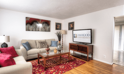 Living Room, Oakwood Townhomes, 0