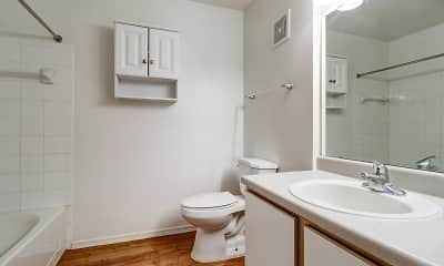 Bathroom, Glen Oaks Apartments, 2