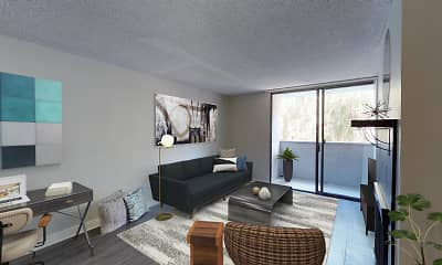 Living Room, 4250 Coldwater Canyon, 0