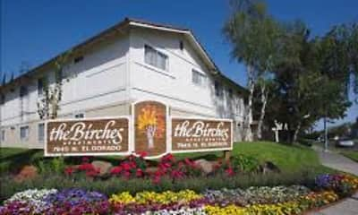 Community Signage, Birches Apartments, 1
