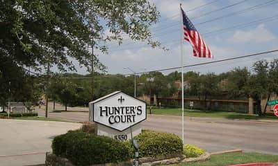Community Signage, Hunter's Court, 2