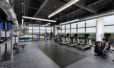 Fitness Weight Room, The Residences at Addison and Clark, 1