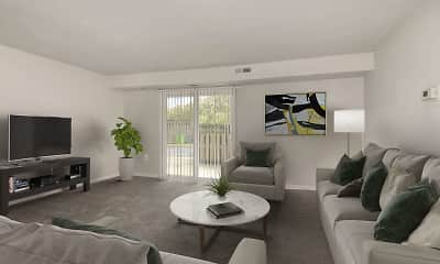 Living Room, Raleigh Court Apartments, 0