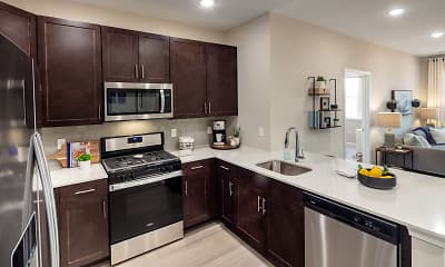Kitchen, Lofts at Monroe Parke, 0