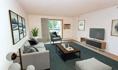 Living Room, Albertville Meadows Apartments, 1