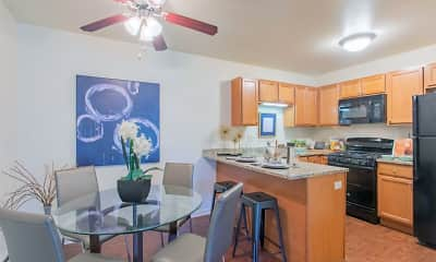 Kitchen, Buffalo Creek Apartments, 0