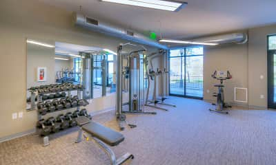 Fitness Weight Room, The Marquette, 2