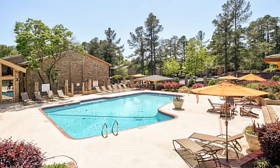 Pool, Woodcrest Apartments, 1