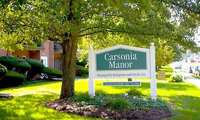 Community Signage, Carsonia Manor, 0