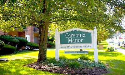 Community Signage, Carsonia Manor, 0
