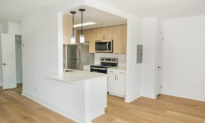 Kitchen, Delmont Apartments, 0