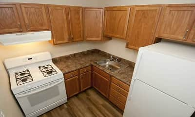 Kitchen, Chestnut Apartments, 1