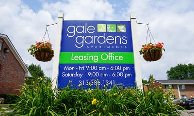 Community Signage, Gale Gardens Apartments, 0
